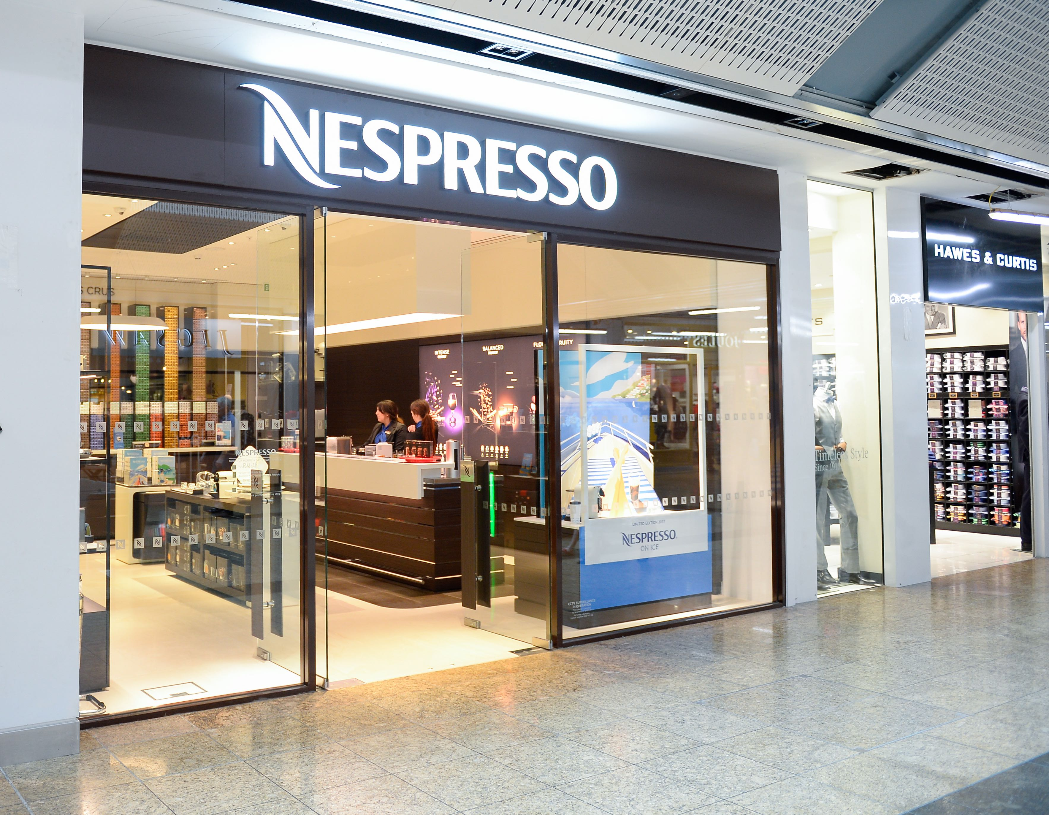 PRESS - Meadowhall - Nespresso front 1